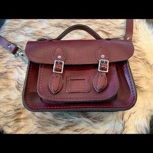Cambridge tiny Satchel - oxford/burgundy